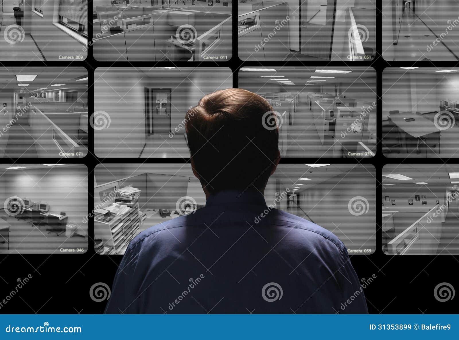 Pracownik ochrony dyrygentury inwigilacja oglądać kilka secur