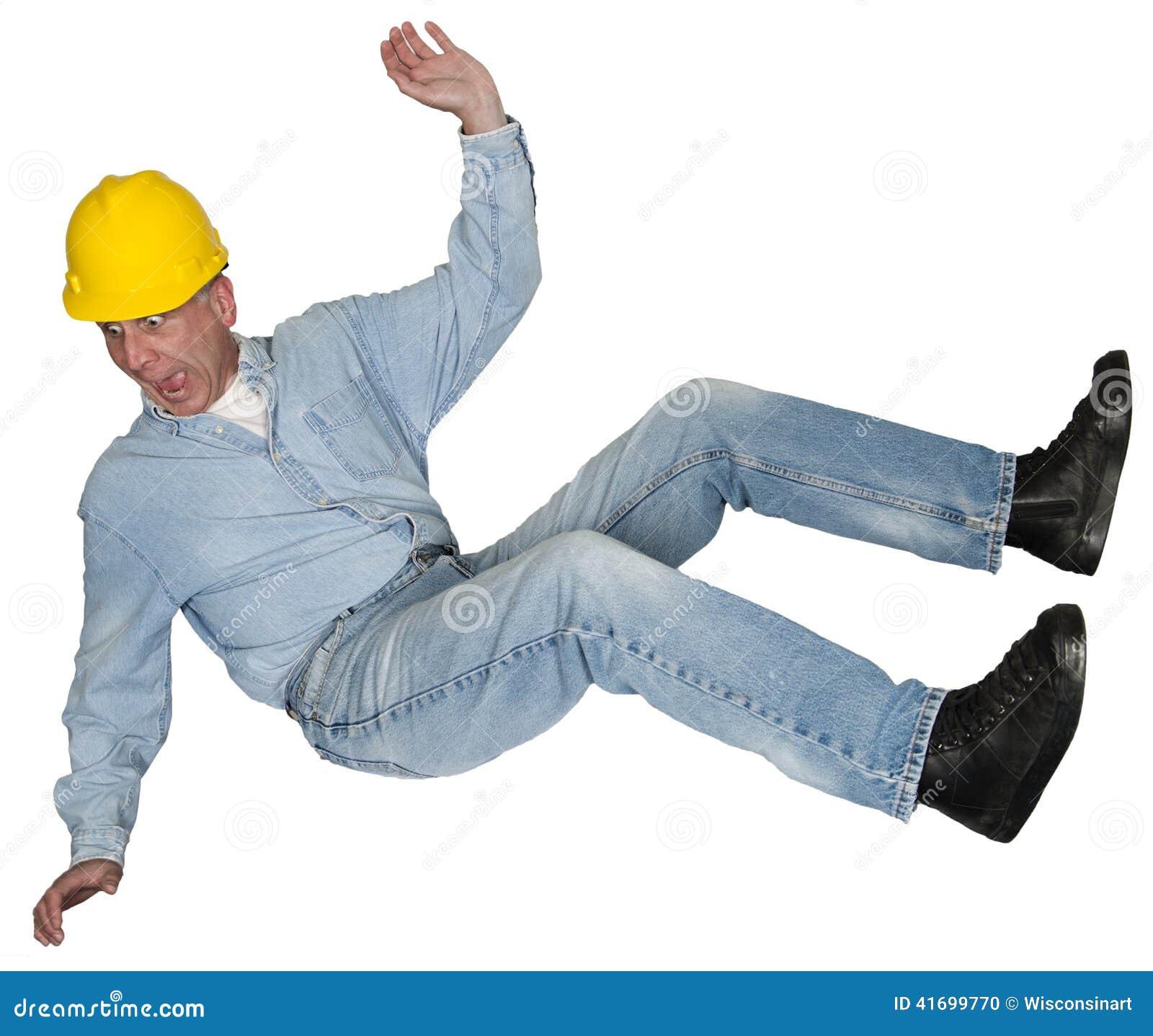 Pracownika Budowlanego kontrahent Spada, wypadek, odizolowywający
