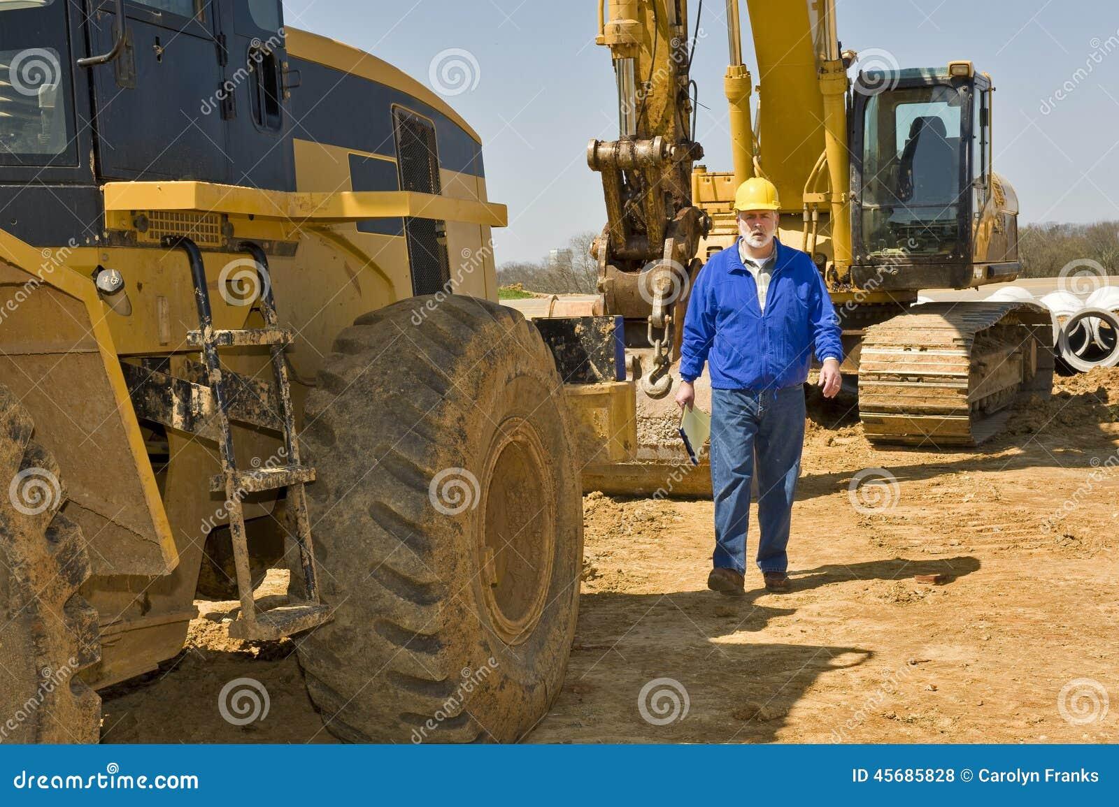 Pracownika Budowlanego odprowadzenie Wzdłuż wyposażenia