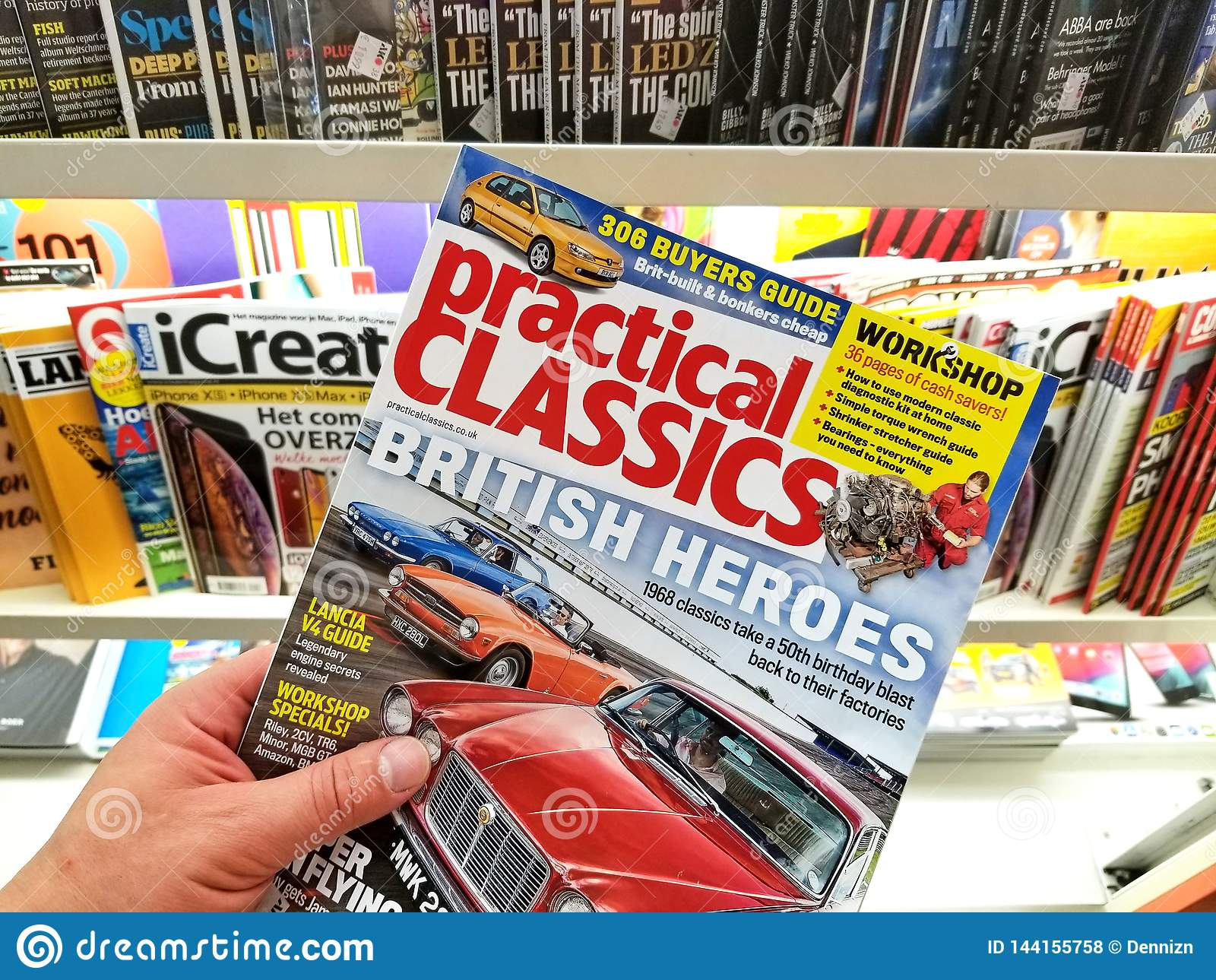 Practical Classics magazine in a hand