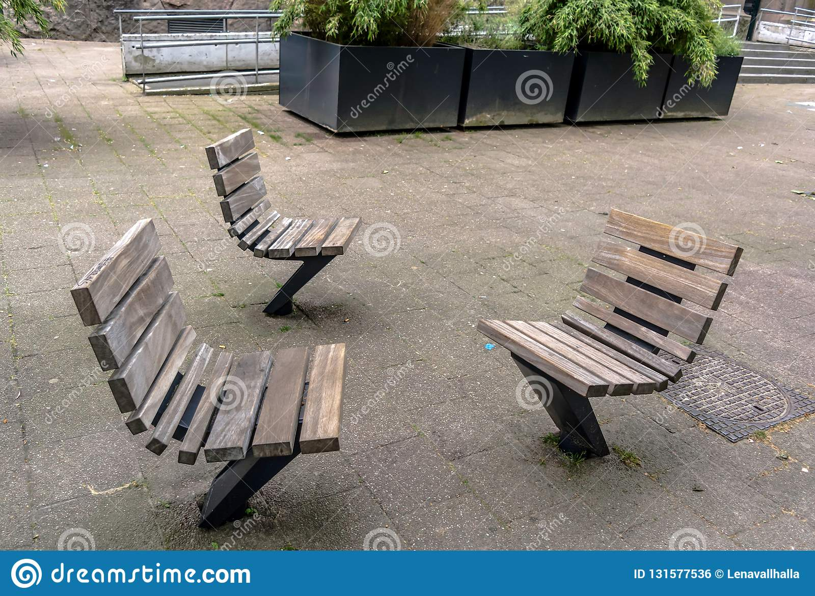 Practical and comfortable street furniture in Rotterdam, Netherlands