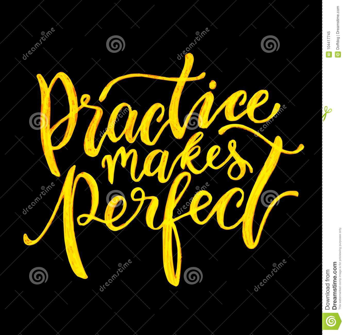 Practice Makes Perfect Stock Vector Illustration Of Modern 104417745