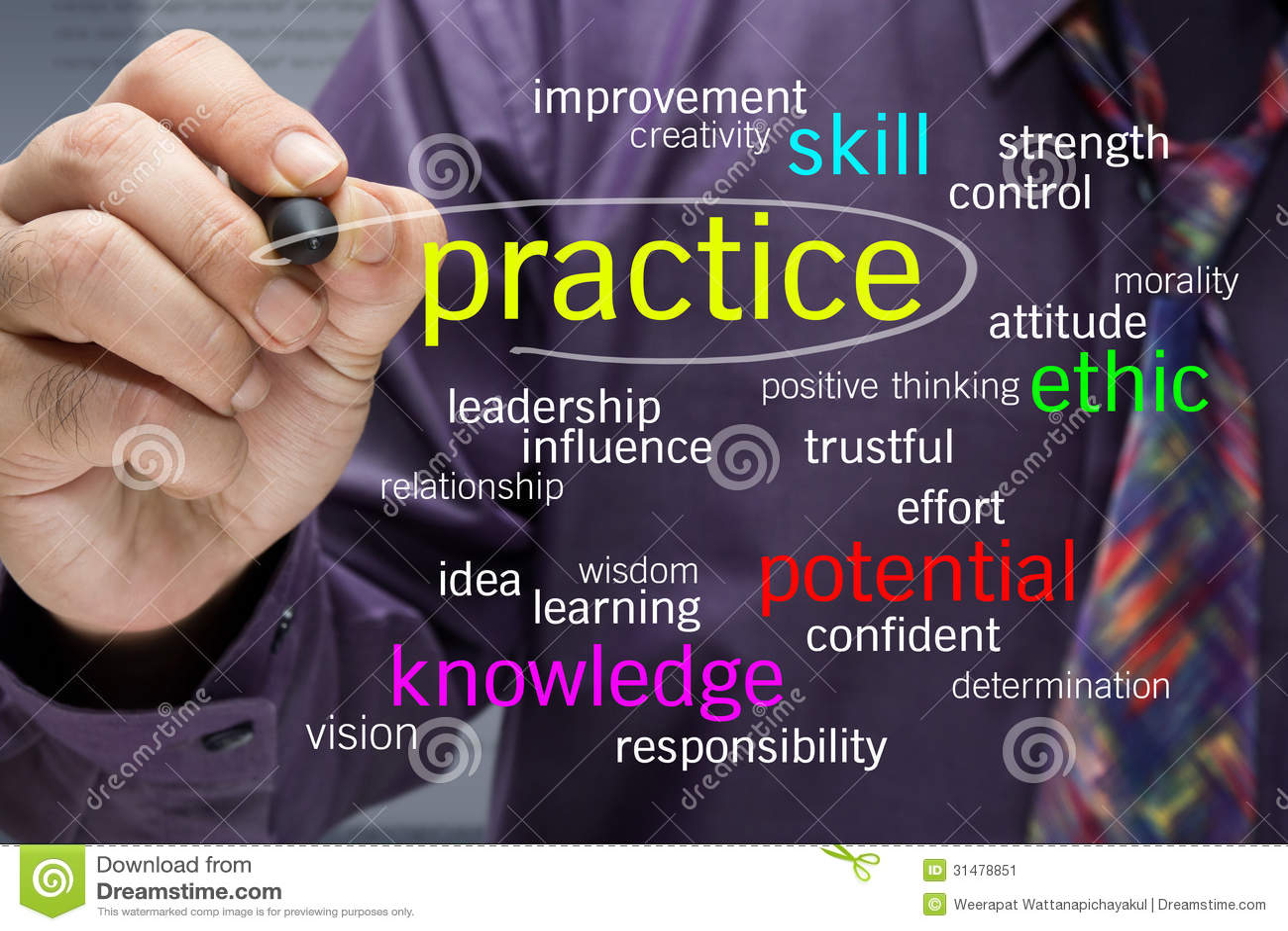 Practice words