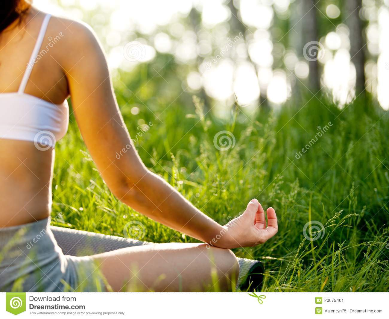 Practicing of yoga