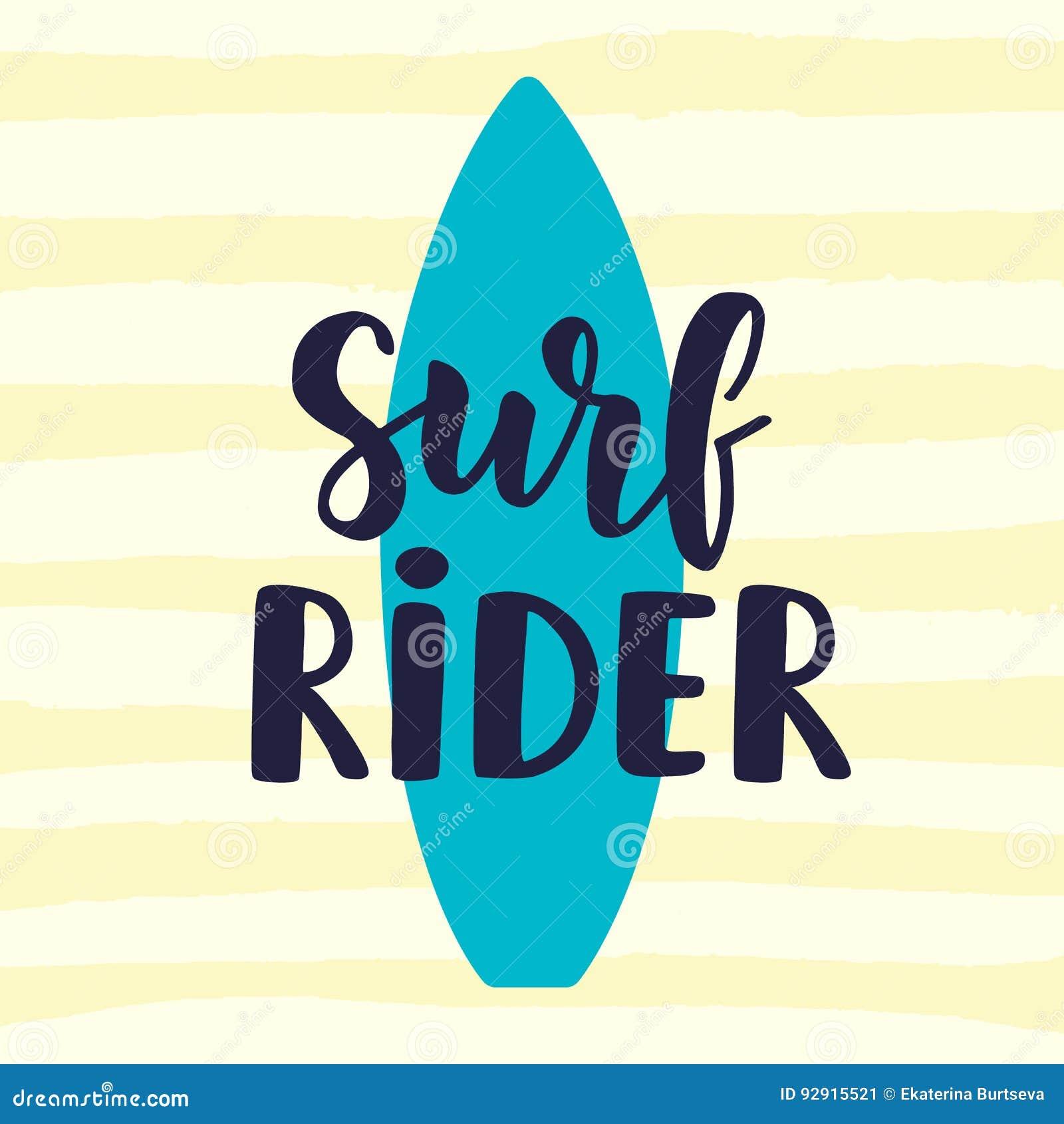 f18d077412b4c Practique Surf El Cartel Del Jinete En Colores Retros Del Estilo ...