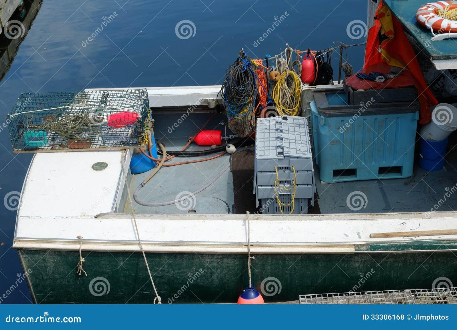 Pracująca przekładnia na homar łodzi