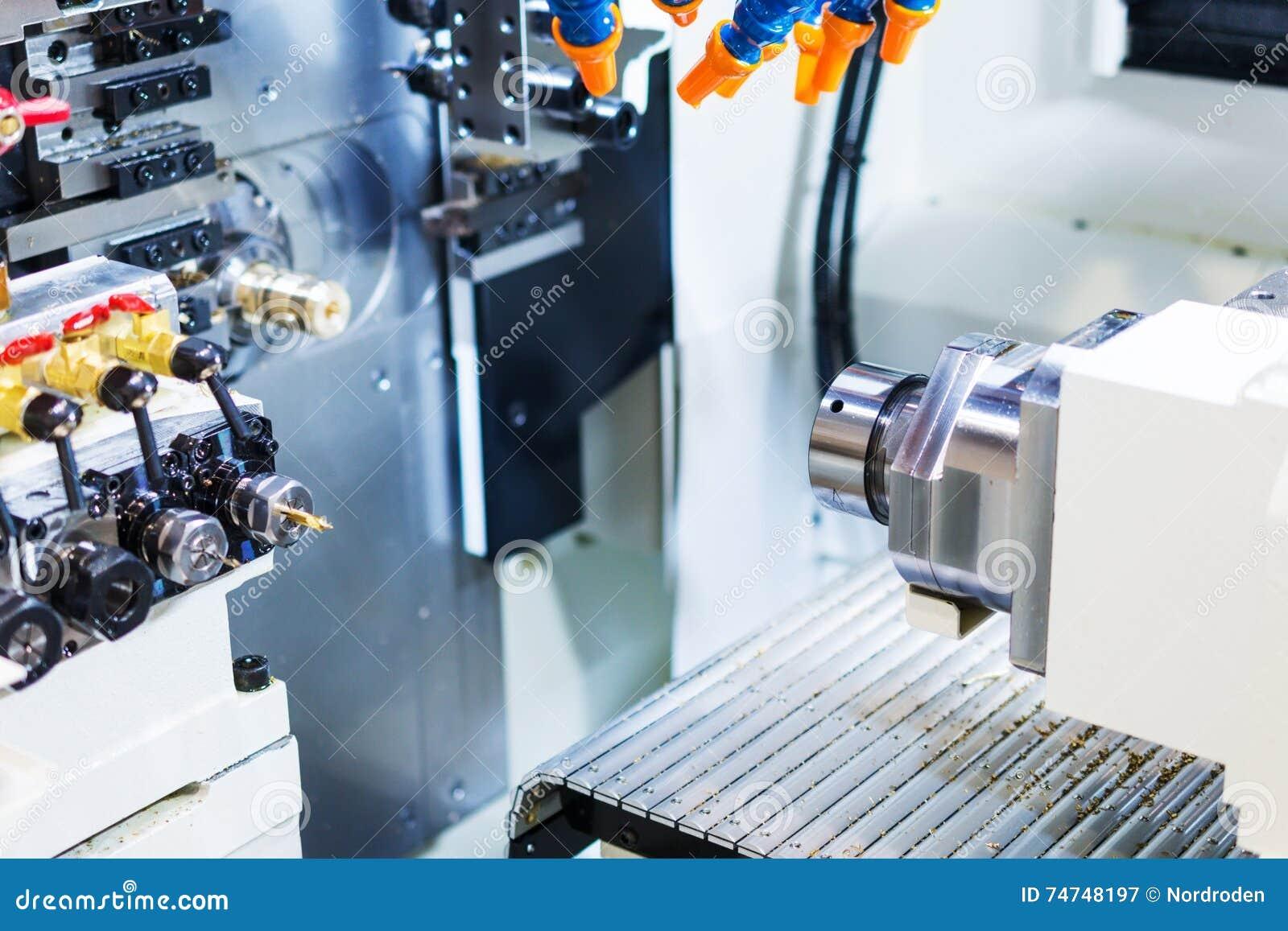 Pracujący teren przemysłowa CNC mielenia maszyna