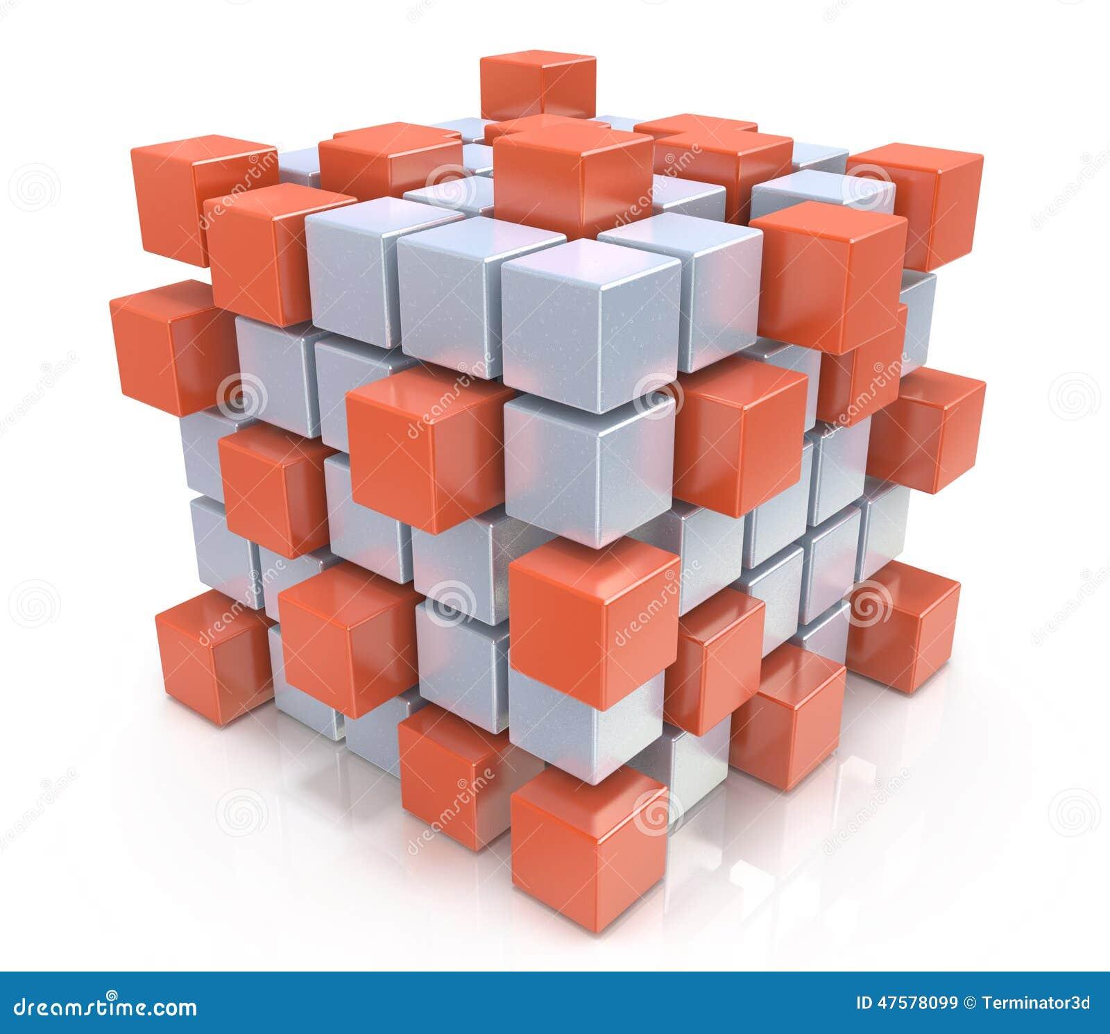 Pracy zespołowej biznesowy pojęcie - sześcian gromadzić od bloków