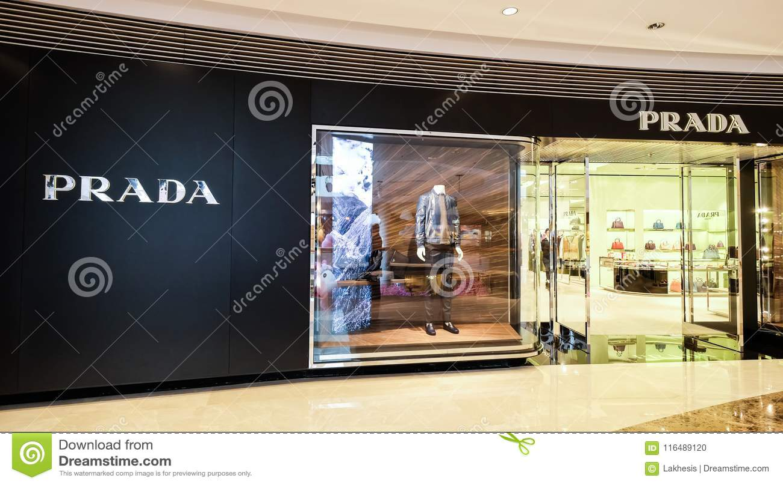 half off 513b7 2554a Prada Adatta La Vetrina Del Boutique Hon Kong Immagine ...