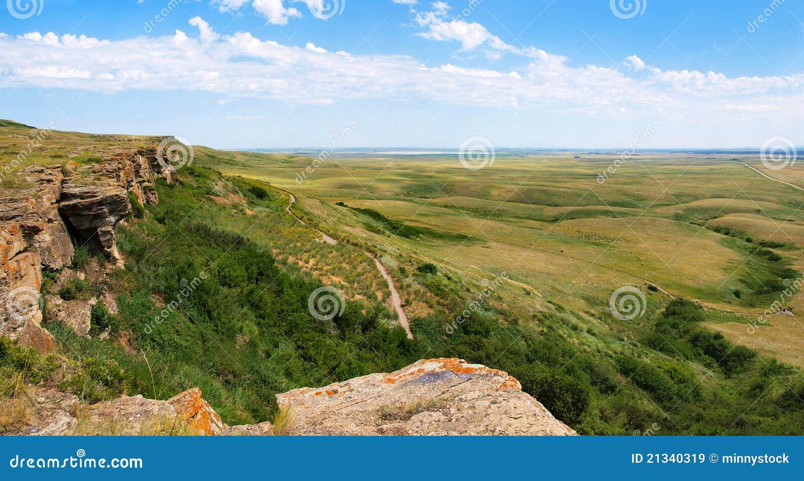 Pradera canadiense en Alberta meridional, Canadá