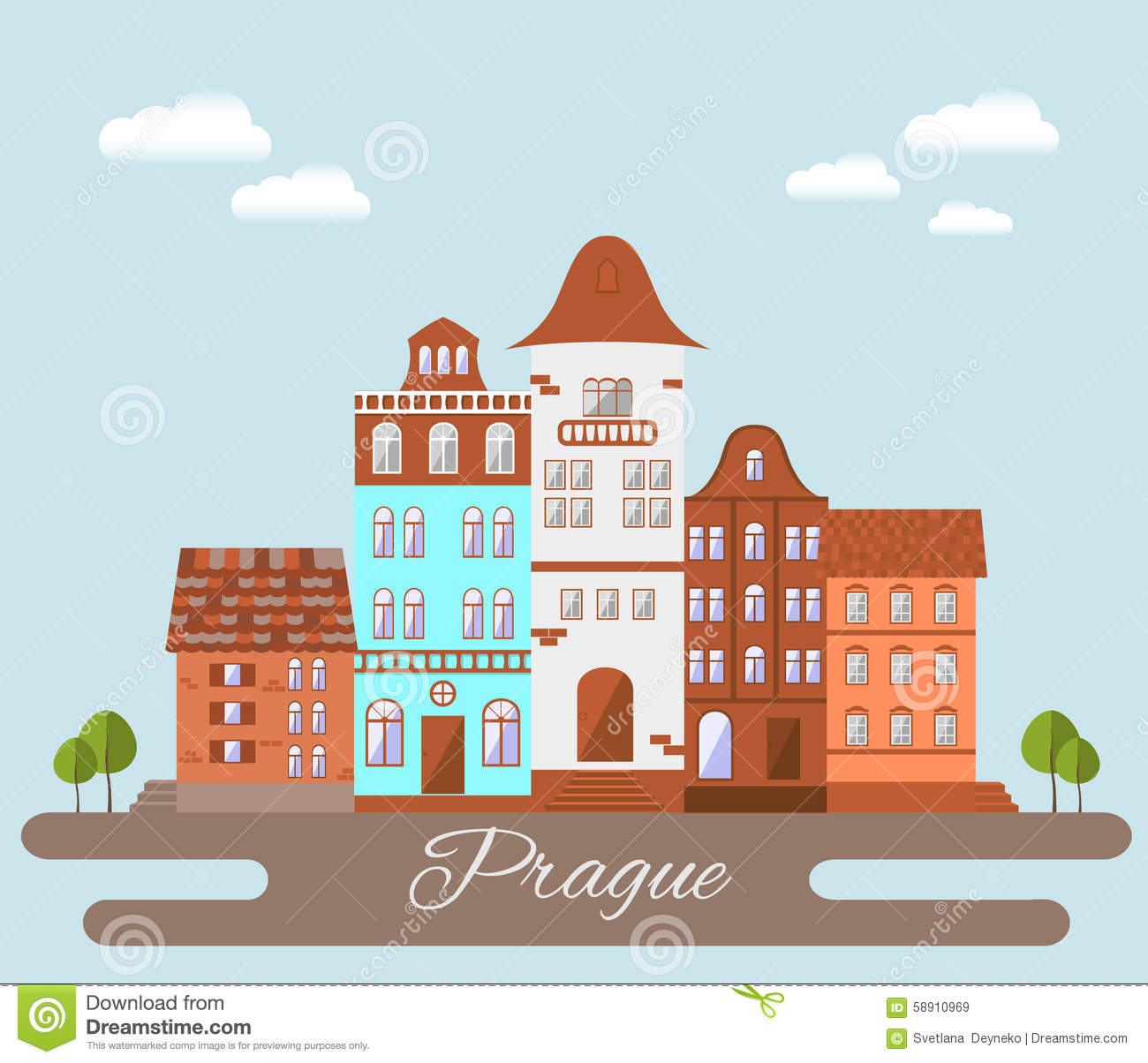 Praga 2 ilustraci n del vector imagen 58910969 for Prague design