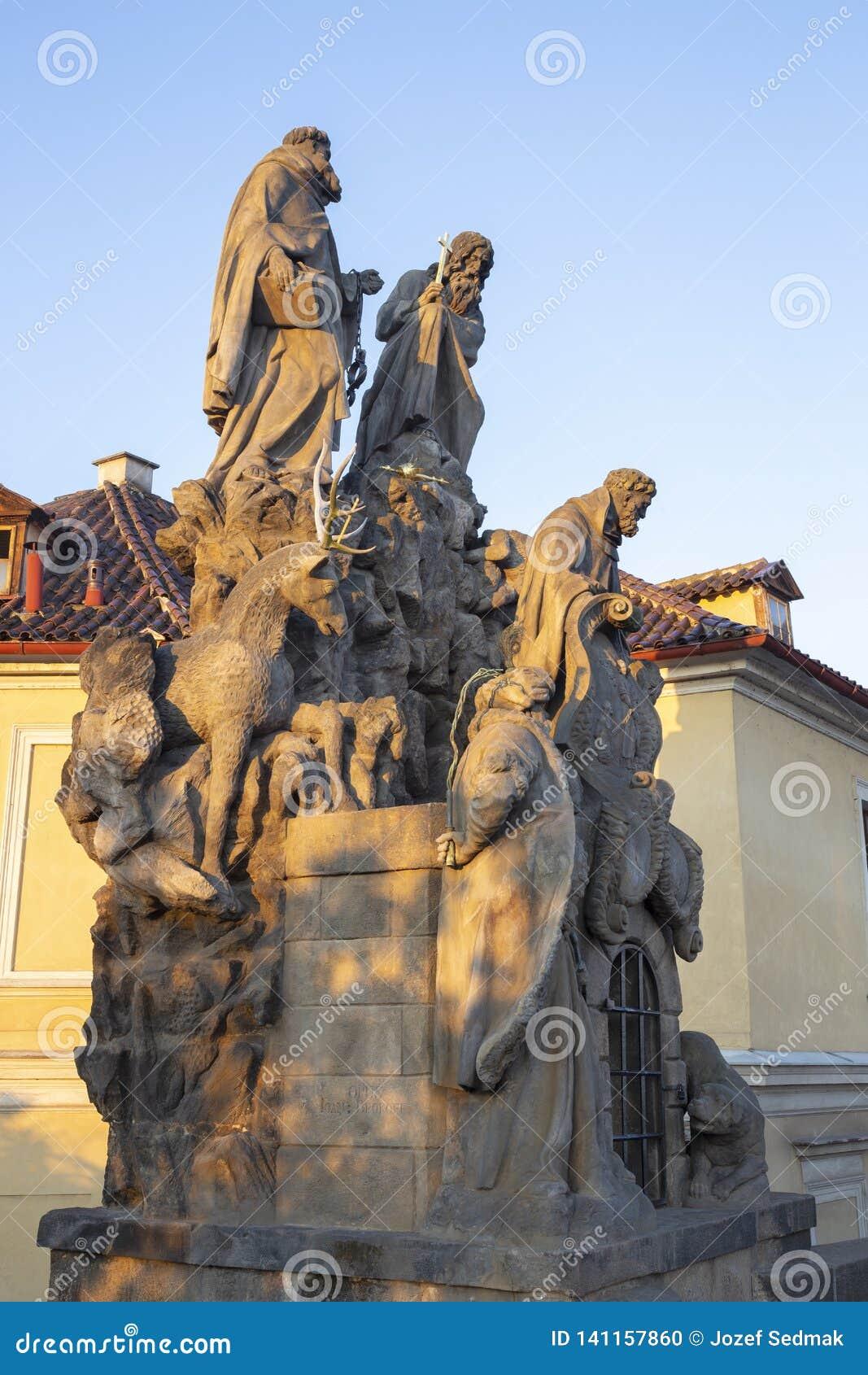 Praga barokowe statuy John Matha, Felix Valois i ?wi?ty Ivan na Charles, Przerzuca most Ferdinand Brokoff