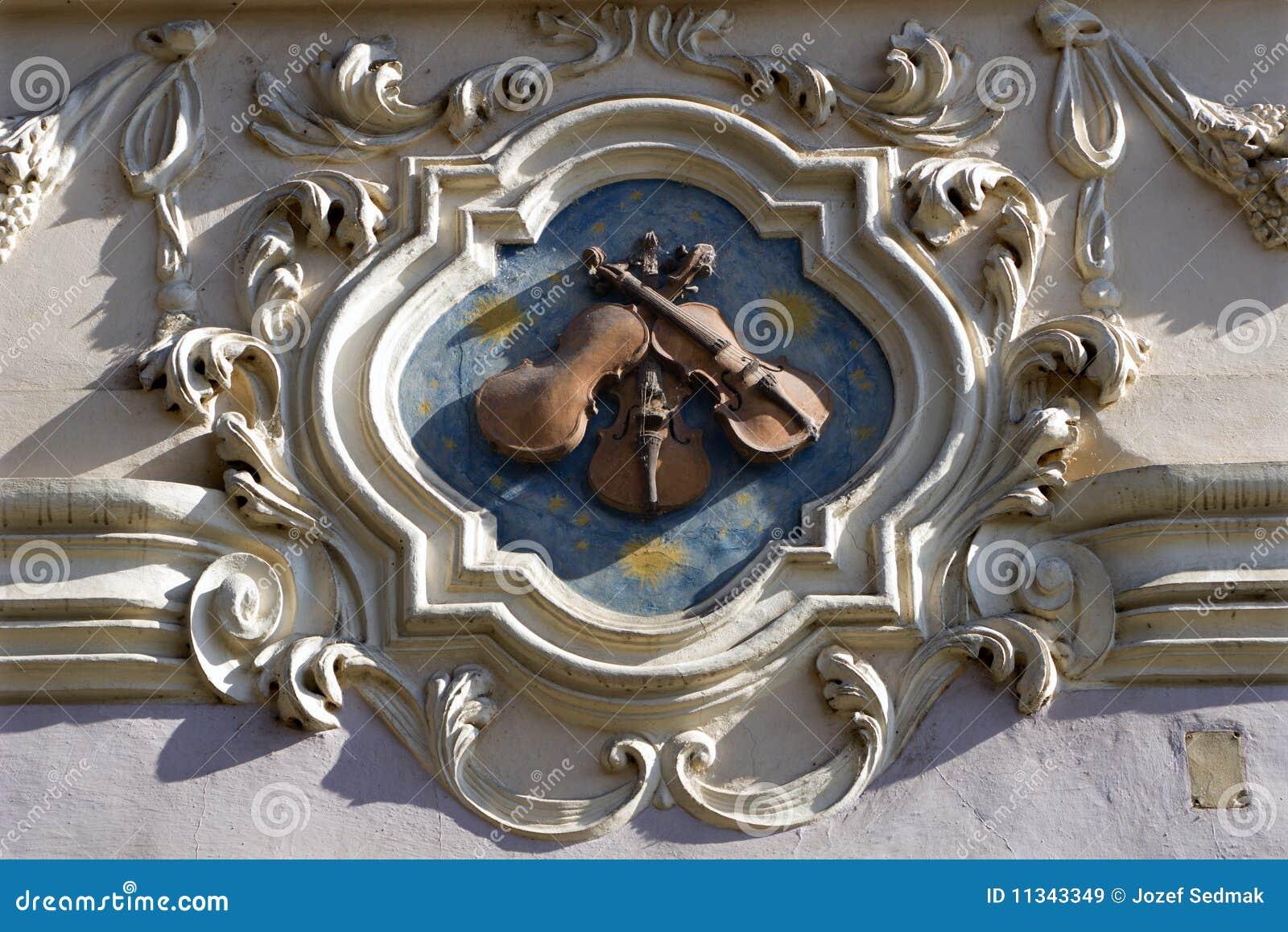 Praga - casa di baroque del modulo del particolare