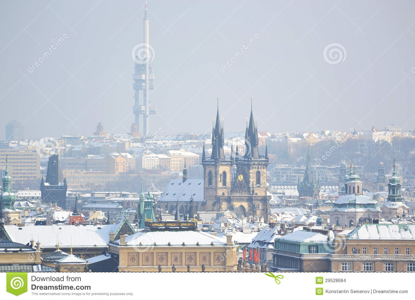 Praga no inverno