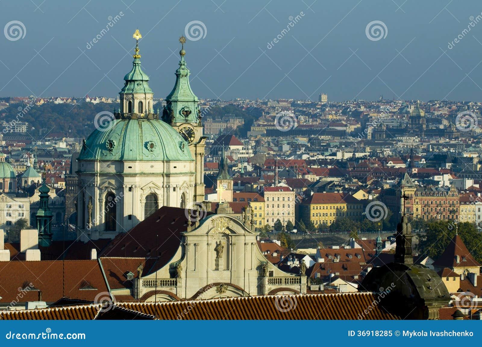 Praga - odgórny widok