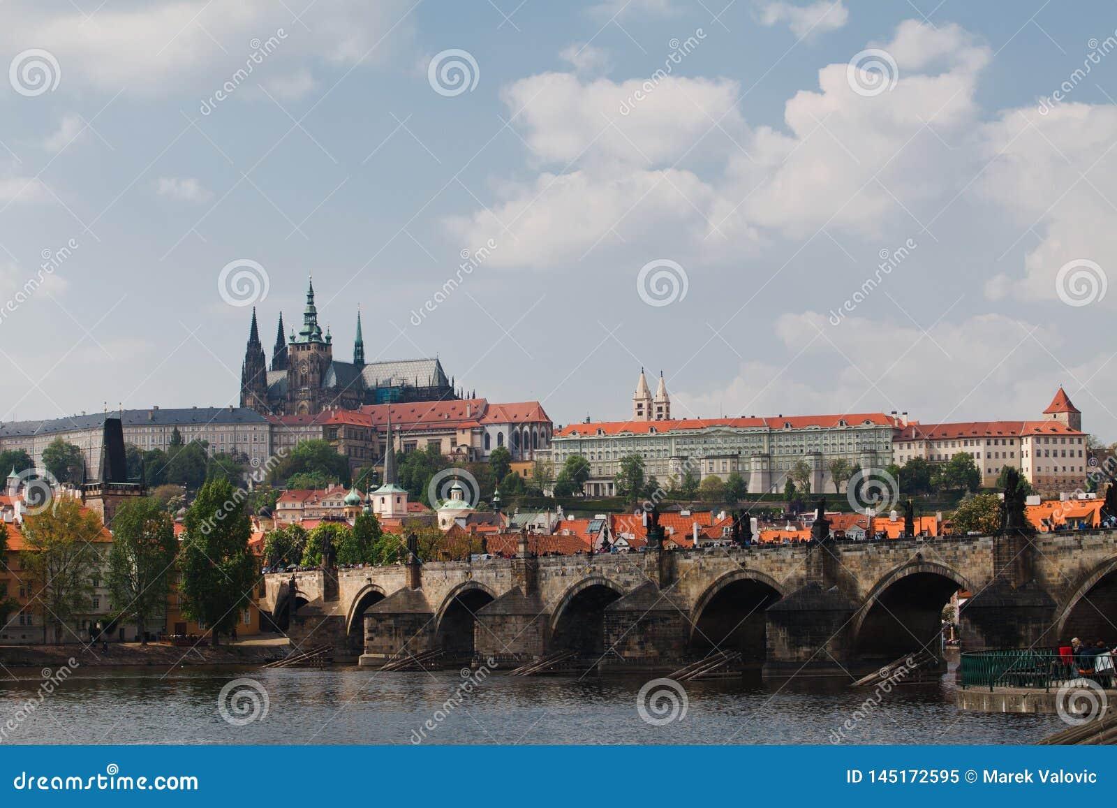 Praga, republika czech, 5th Maj, 2011: Widok na Grodowym okręgu