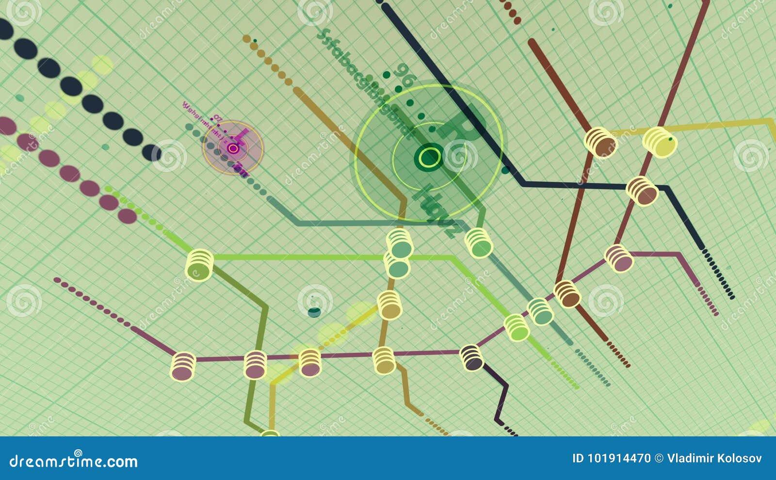 D Metro Map.Pragmatic Metro Map Design Stock Illustration Illustration Of