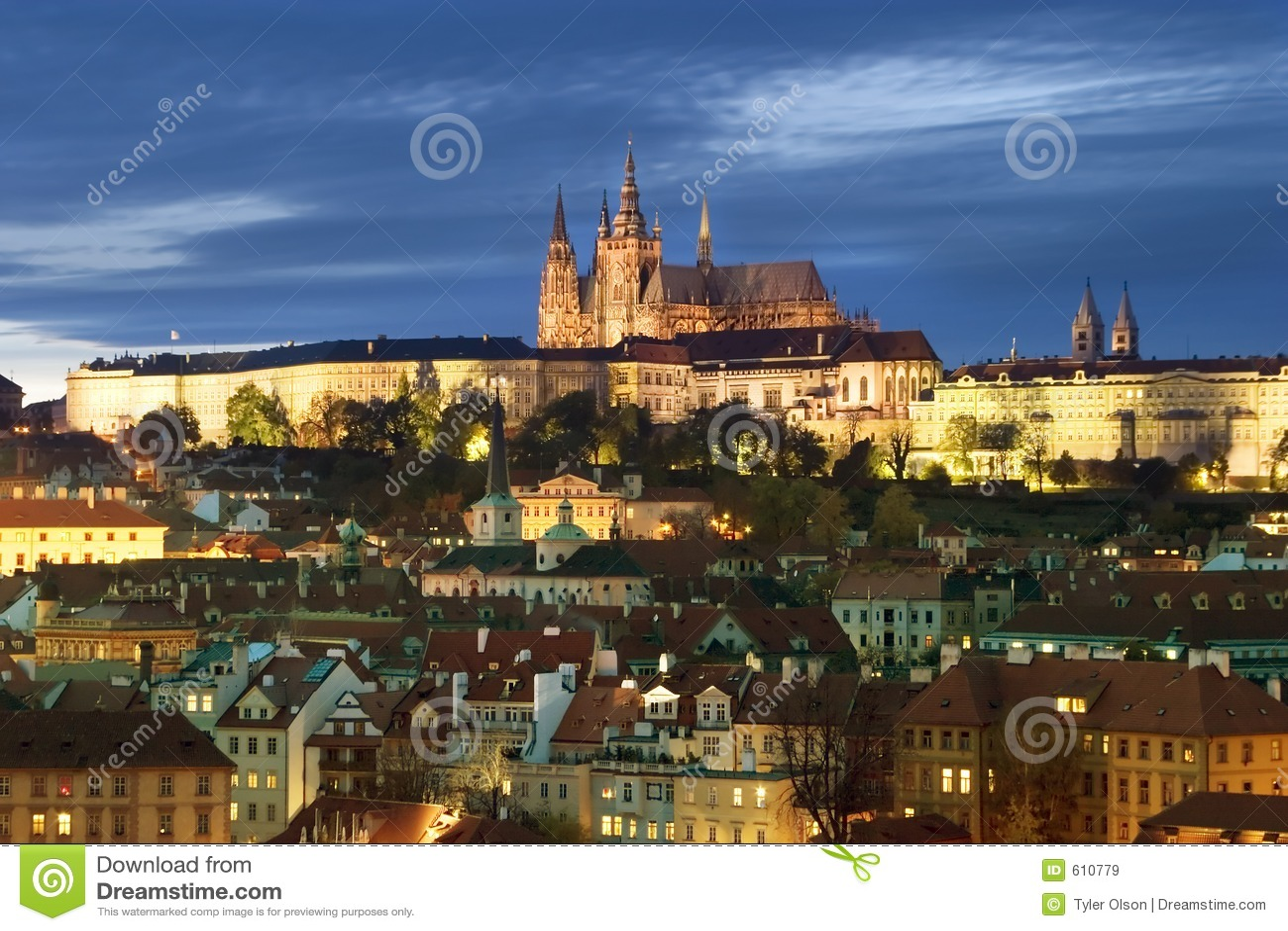 Prague Castle Cityscape