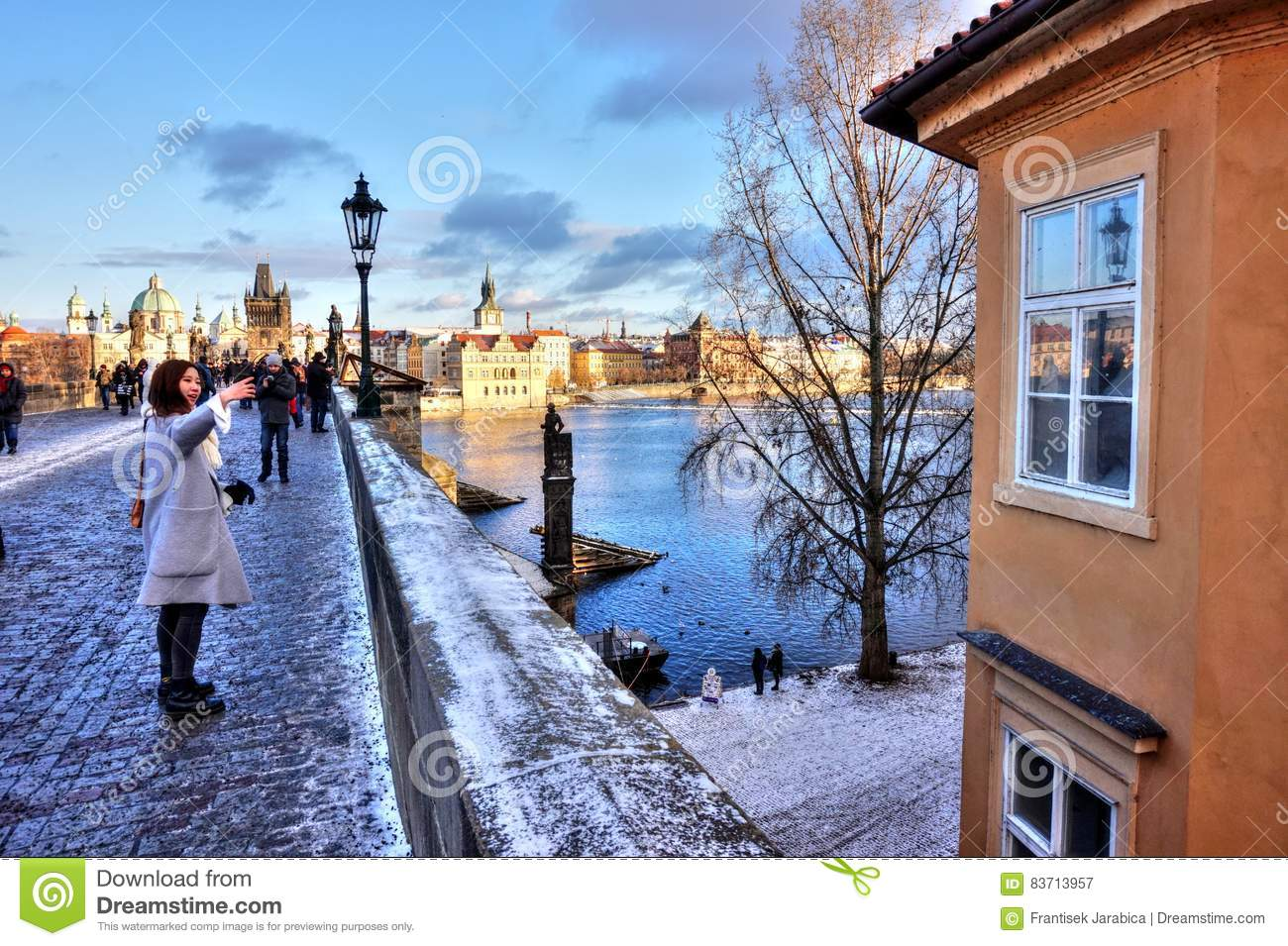 Prague - Charles Bridge Editorial Photography