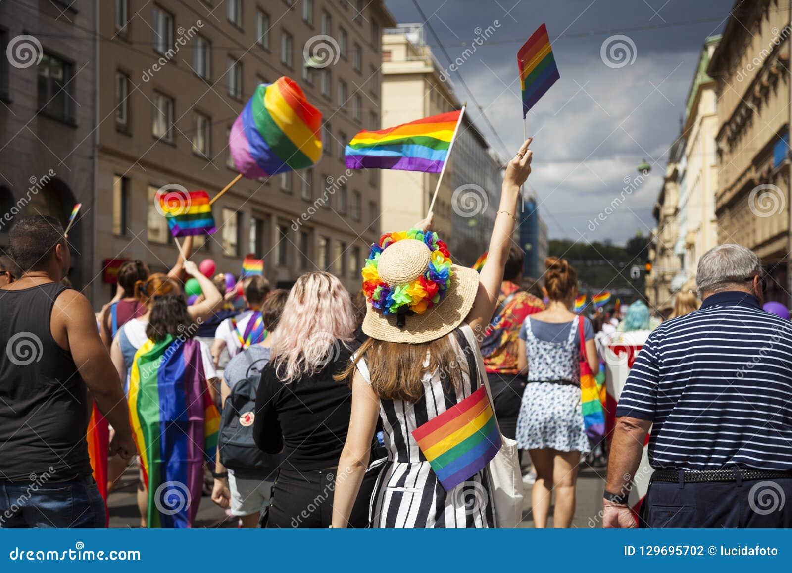Prague/Czech Republic -August 11. 2018 : LGBT Pride March