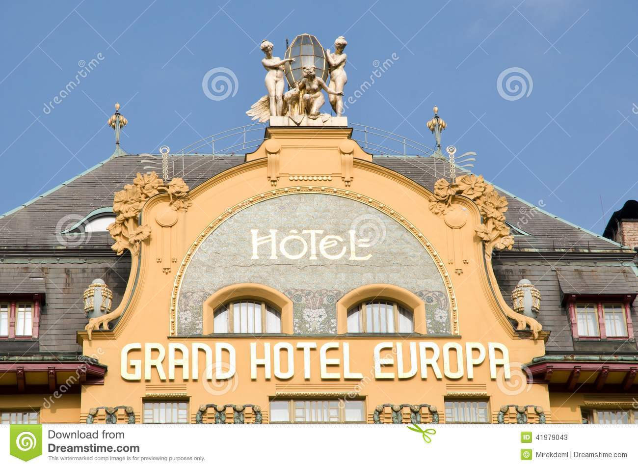 Prague czech republic editorial stock photo image 41979043 for Hotel europa prague