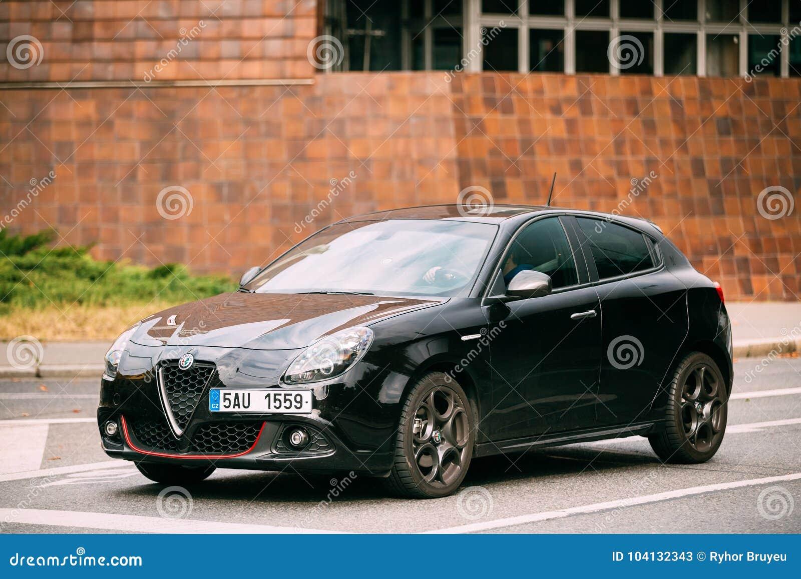 Side View Of Alfa Romeo Giulietta Veloce 940 Car Of Black Metallic Editorial Stock Photo Image Of Modern Outdoor 104132343