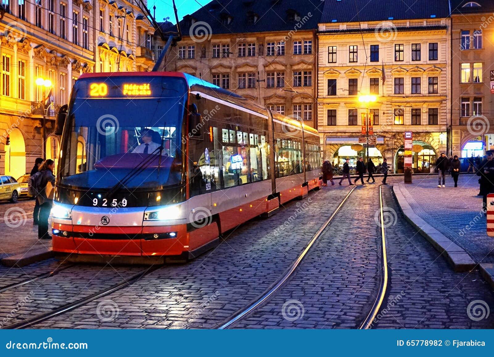 old tram prague street - photo #23
