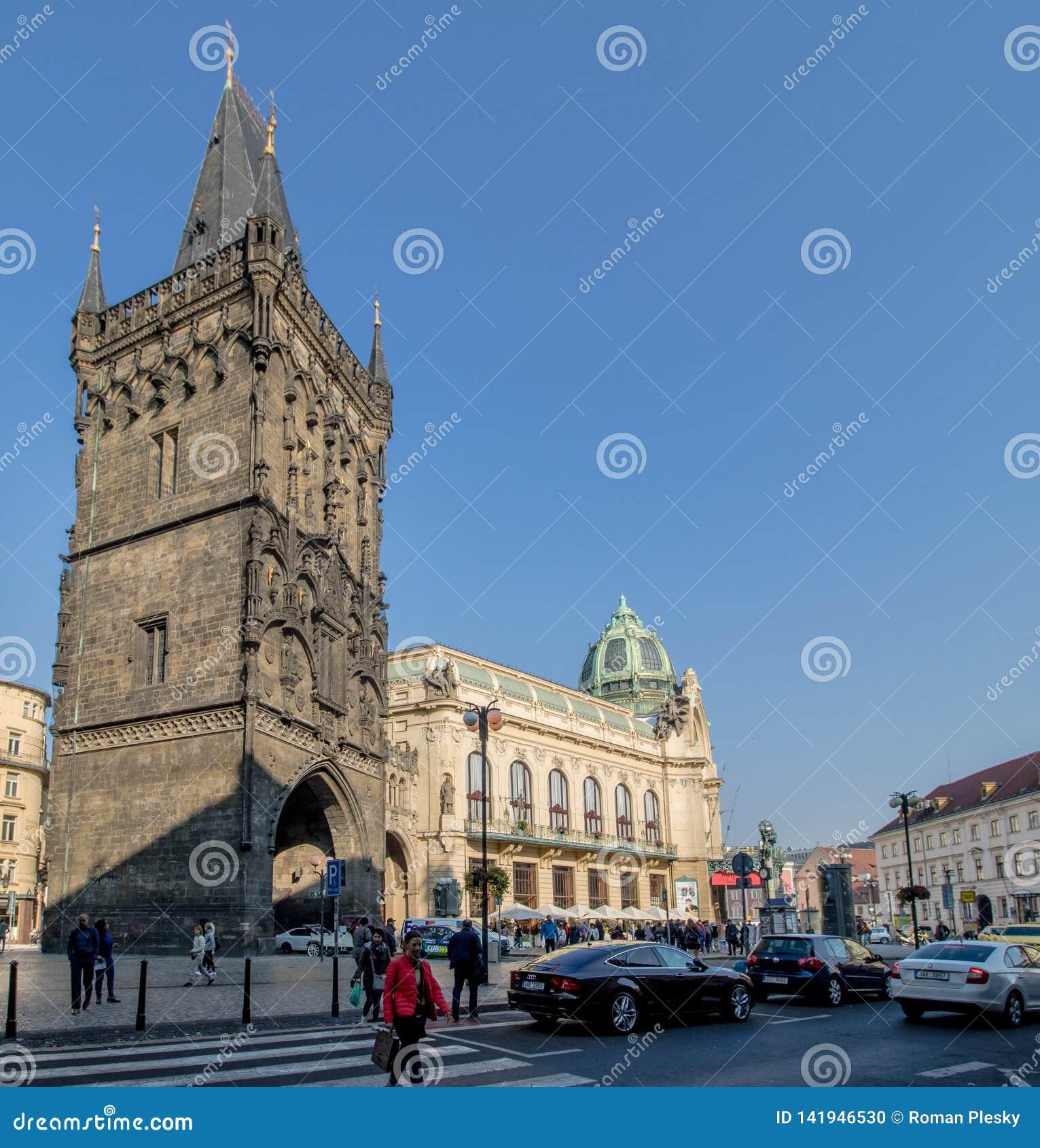 The Prague Municipal House in autumn, Prague, Czech Republic