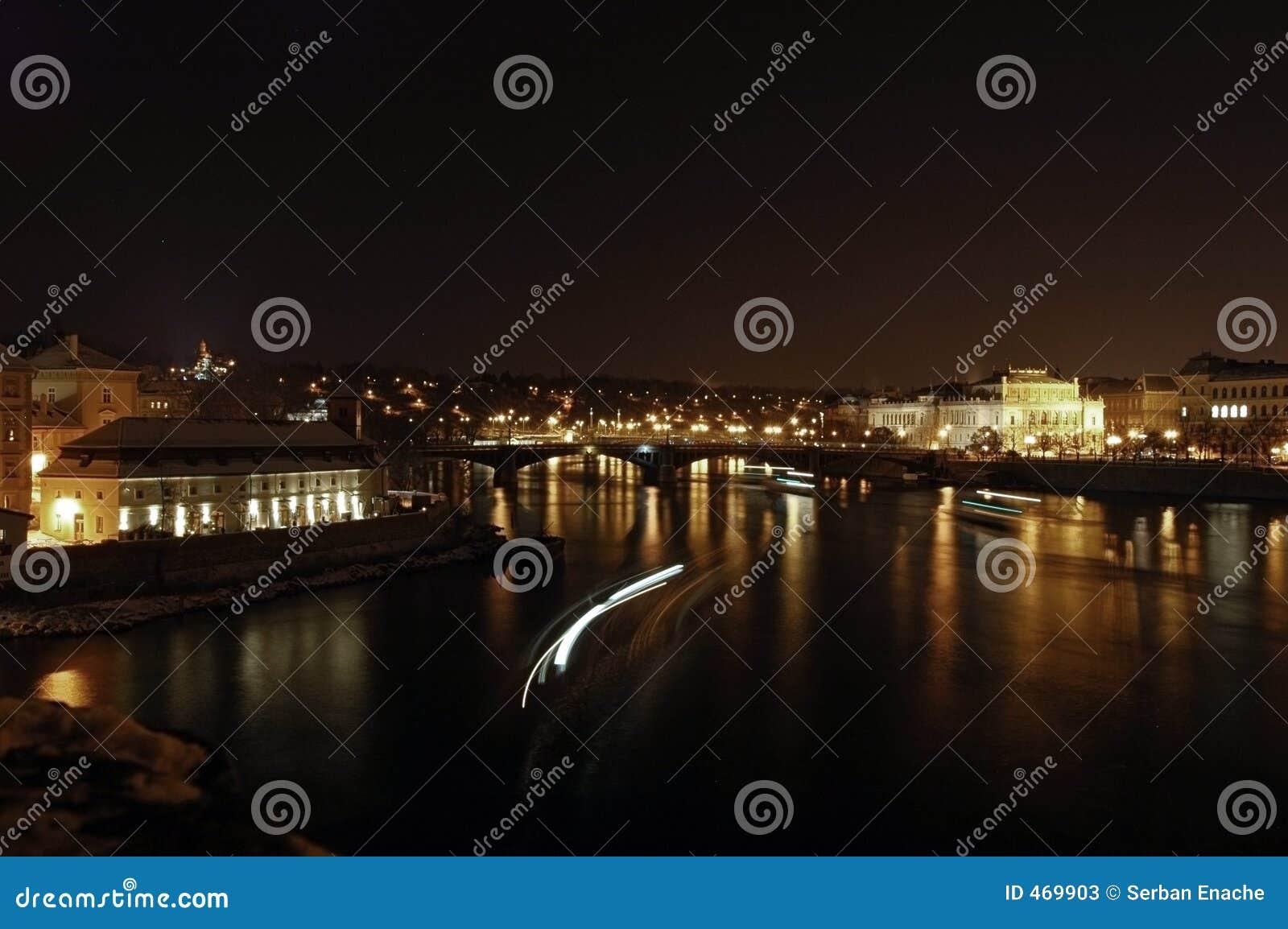 Download Prague at night stock image. Image of prague, guards, dark - 469903