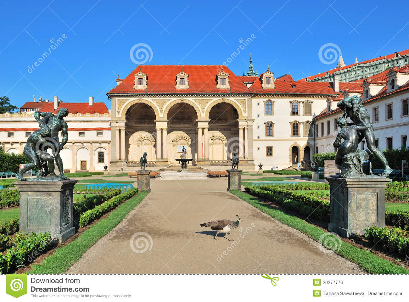 Prague palais de wallenstein image libre de droits for Jardin wallenstein prague