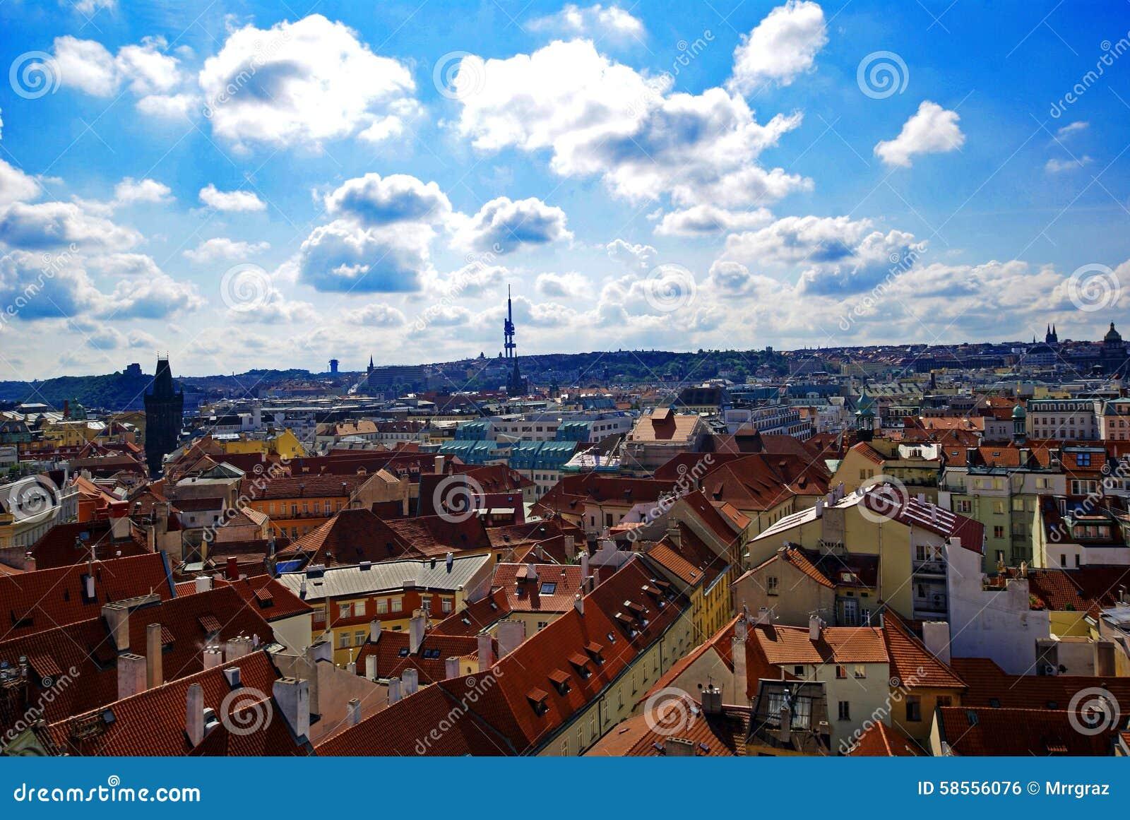 Prague powietrzny widok