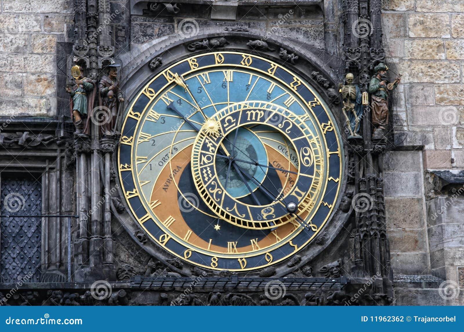 prague praha horloge astronomique photographie stock image 11962362. Black Bedroom Furniture Sets. Home Design Ideas