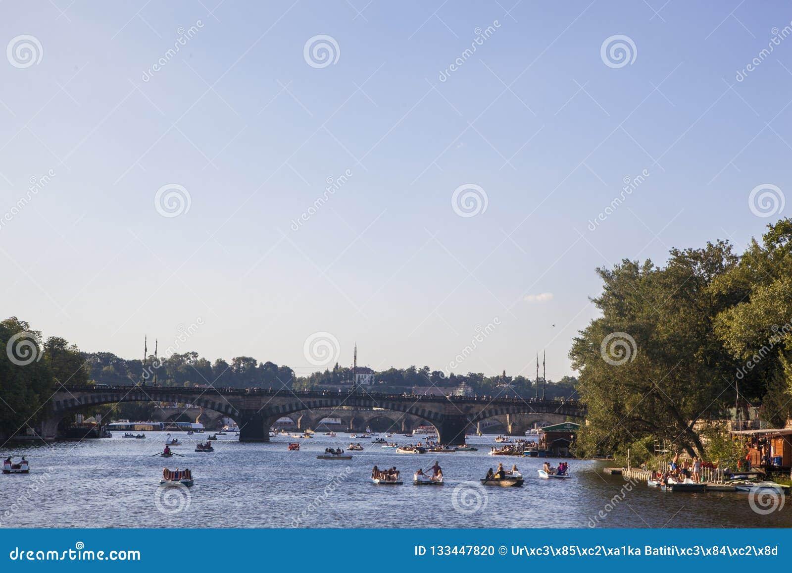 Prague rzeki vltava