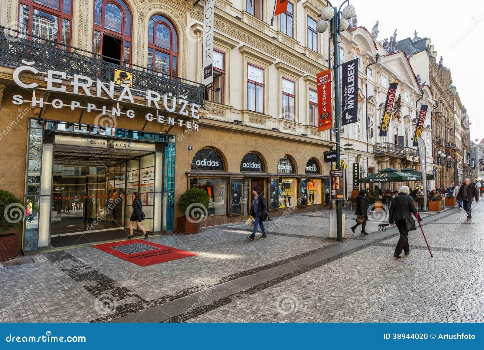 Prague shopping center cerna ruze editorial image image for Prague center