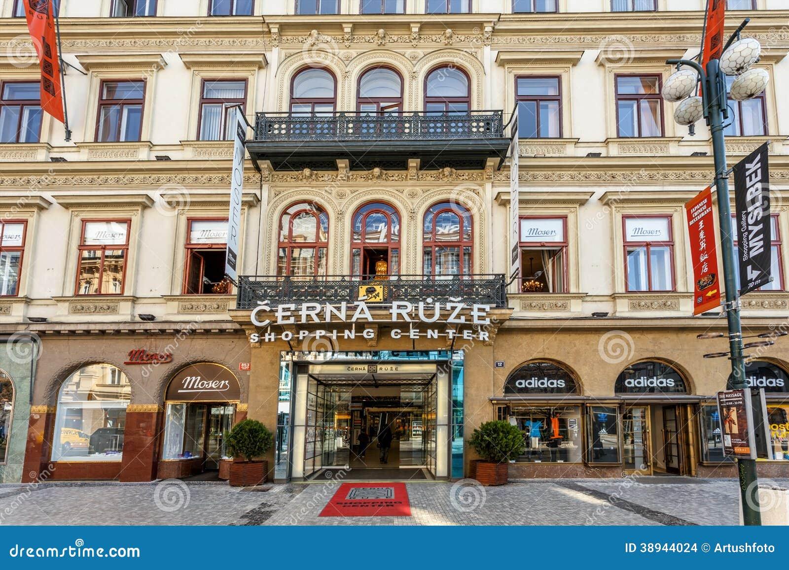 Prague shopping center cerna ruze editorial stock image for Prague center