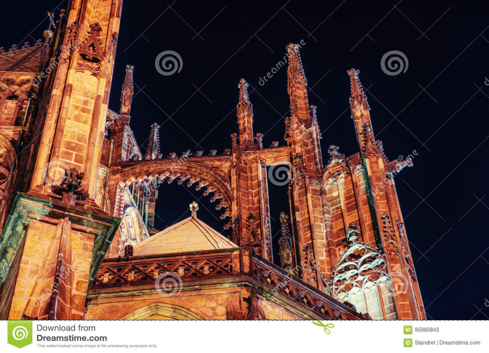 Prague St Vitus Cathedral Passerelle de compartiment à San Francisco, CA