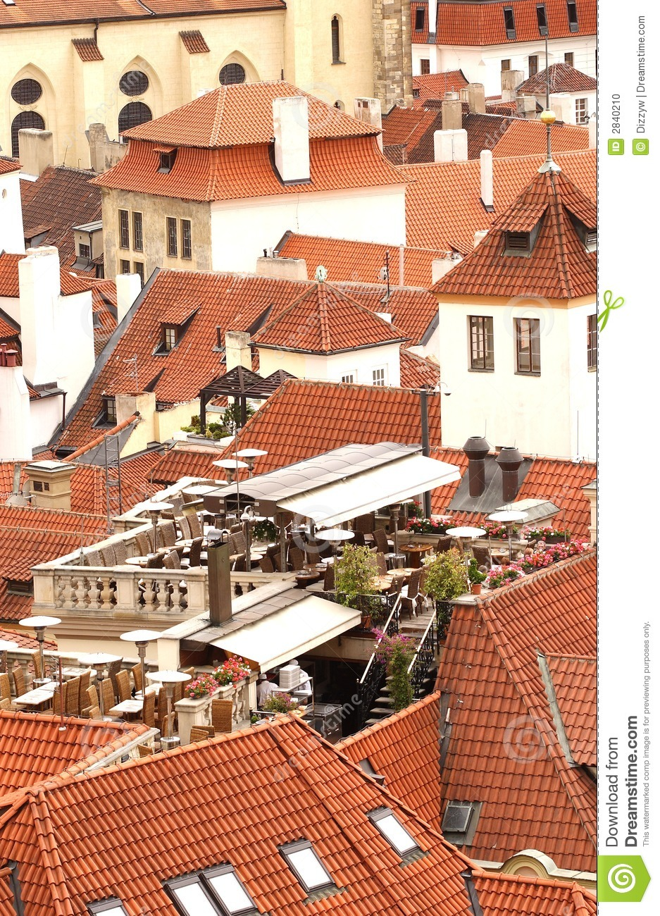 Download Prague tile roofs stock photo. Image of buildings, city - 2840210