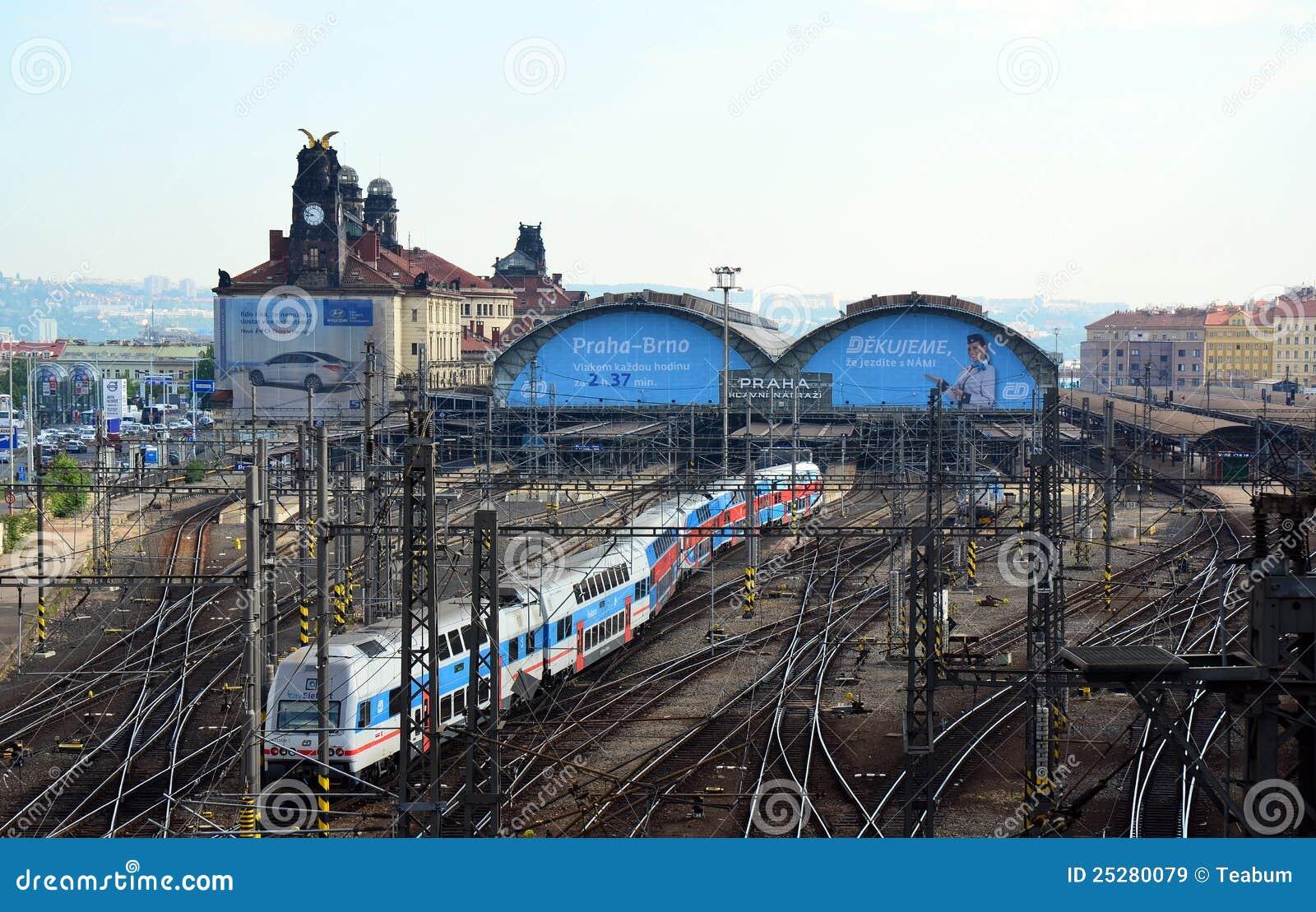 Prague train station city elephant train editorial stock for Designhotel elephant prague 1 czech republic