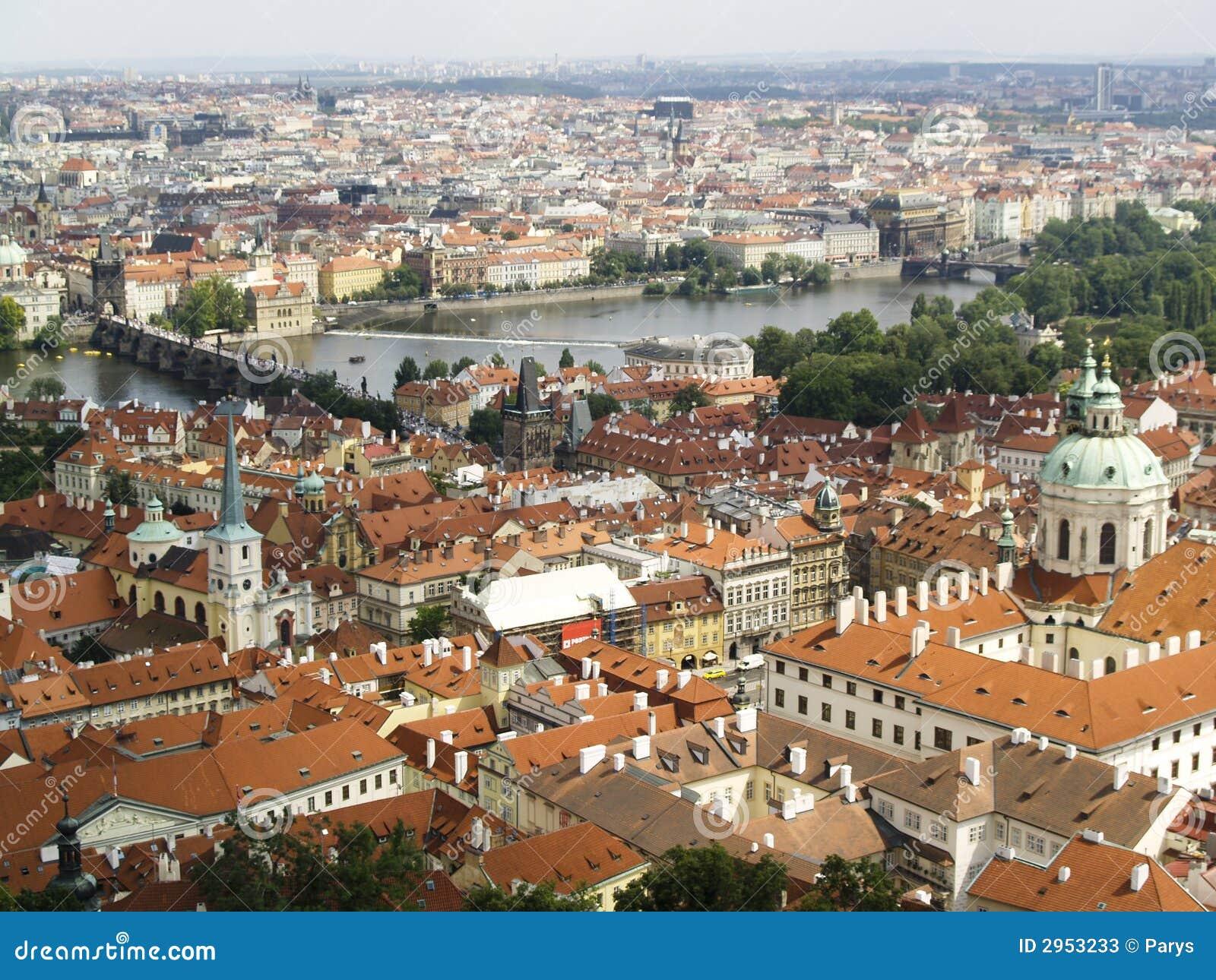 Praha panoramiczny widok