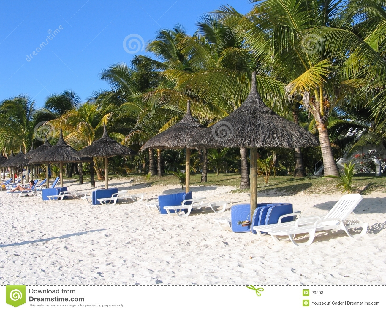 Praia auxiliar de Trou Biches