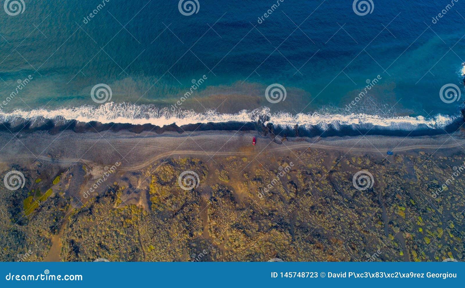 Praia da calma da tarde dos hights