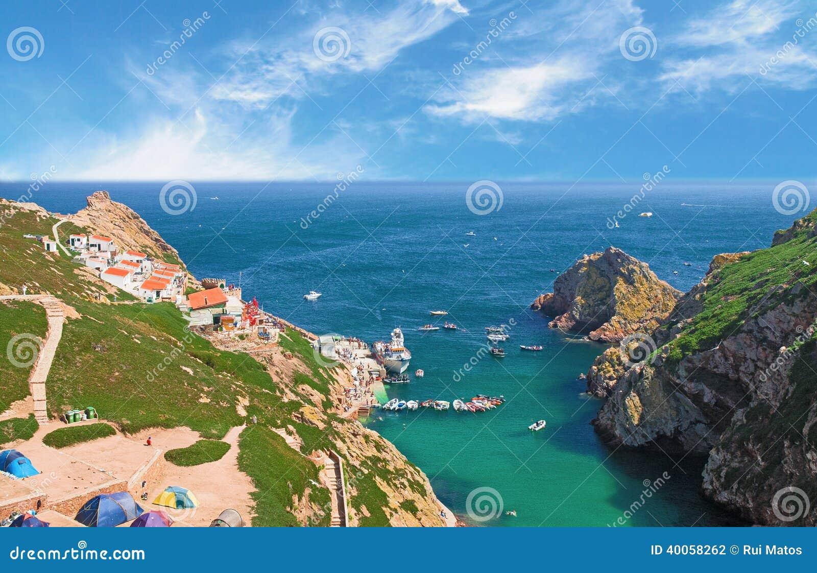 Praia da ilha de Berlenga, Portugal