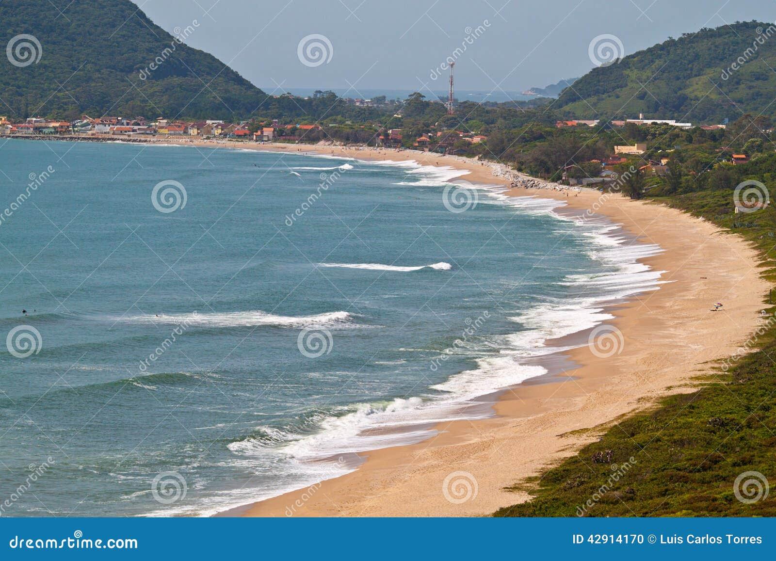 Praia de Armacao em Florianopolis - Brasil