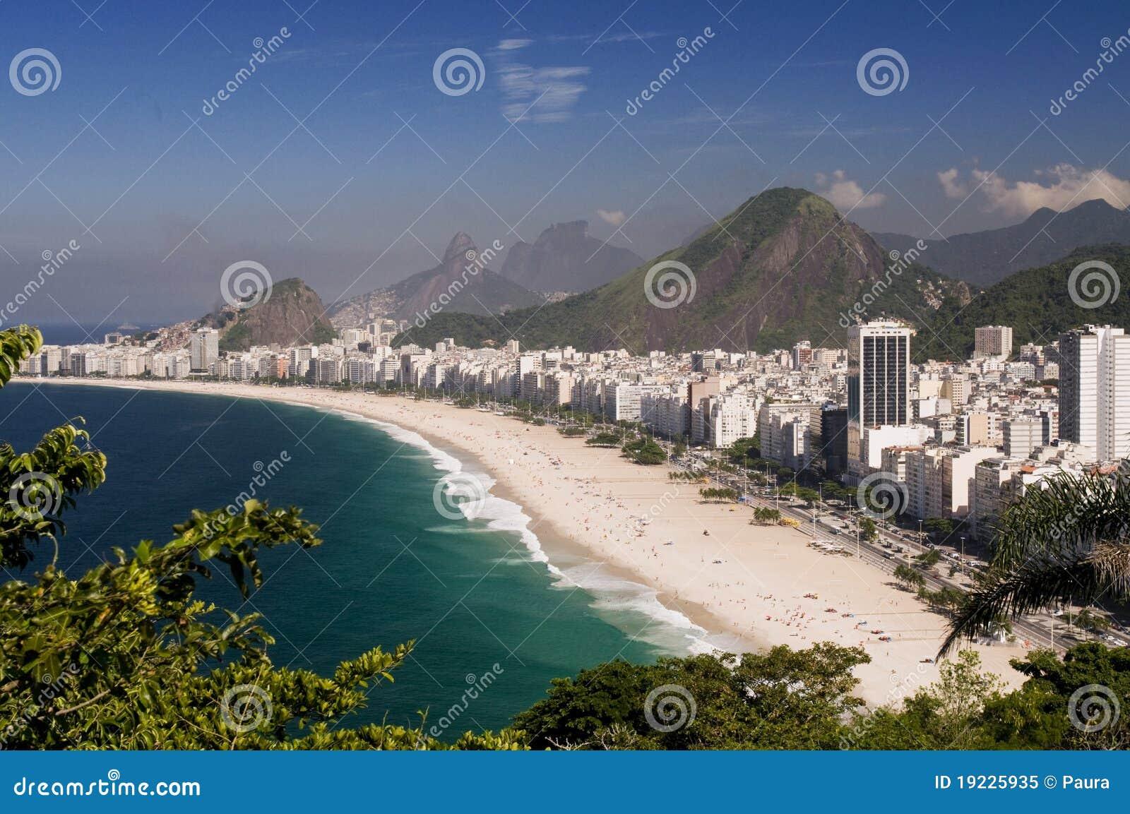 Praia de Copacabana em Rio de Janeiro