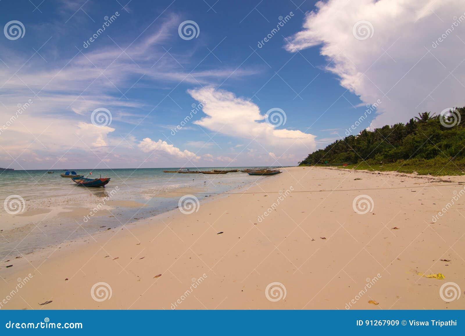 Praia de Kalapattar na ilha de Havelock
