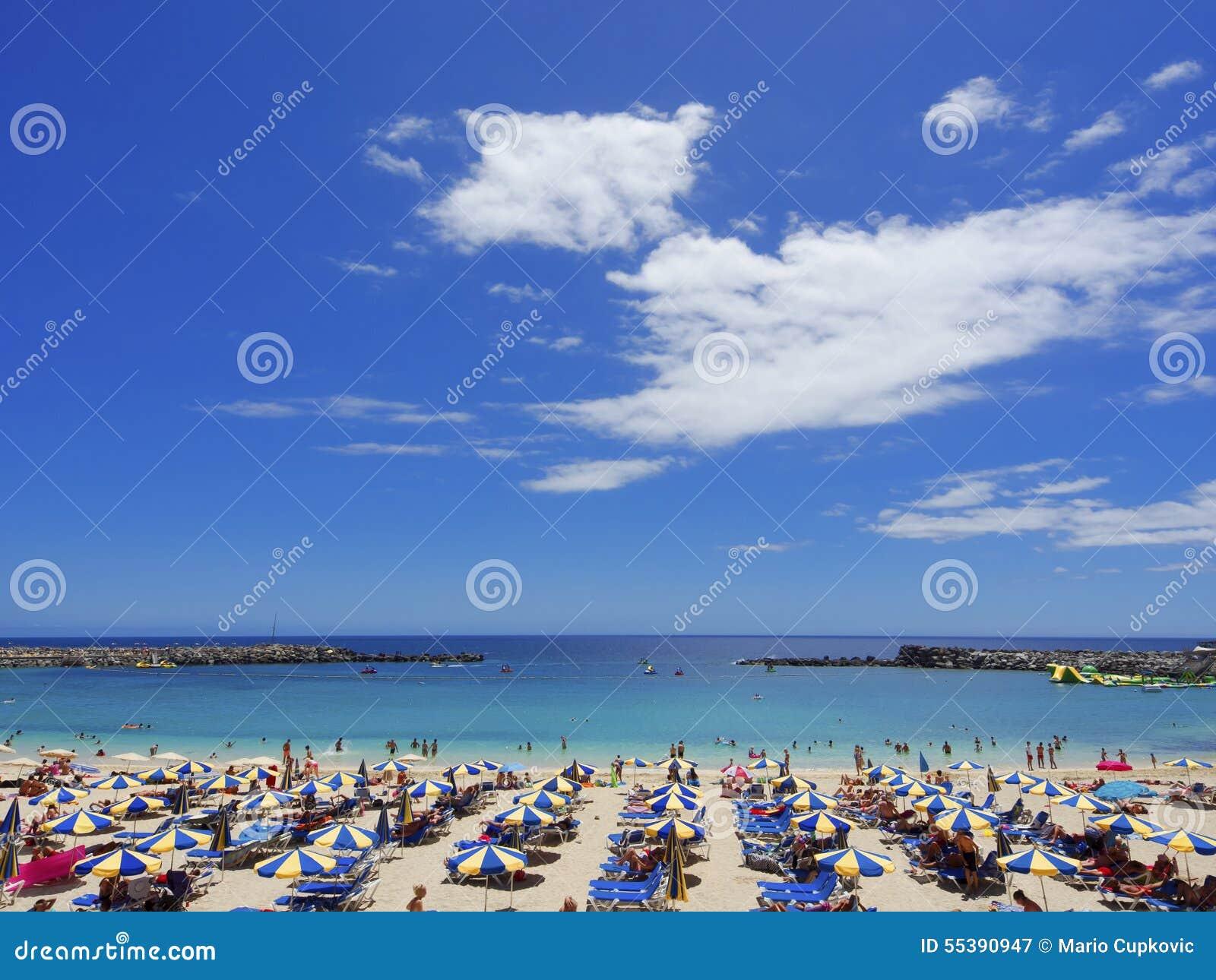 Praia de Playa de Amadores Gran Canaria spain