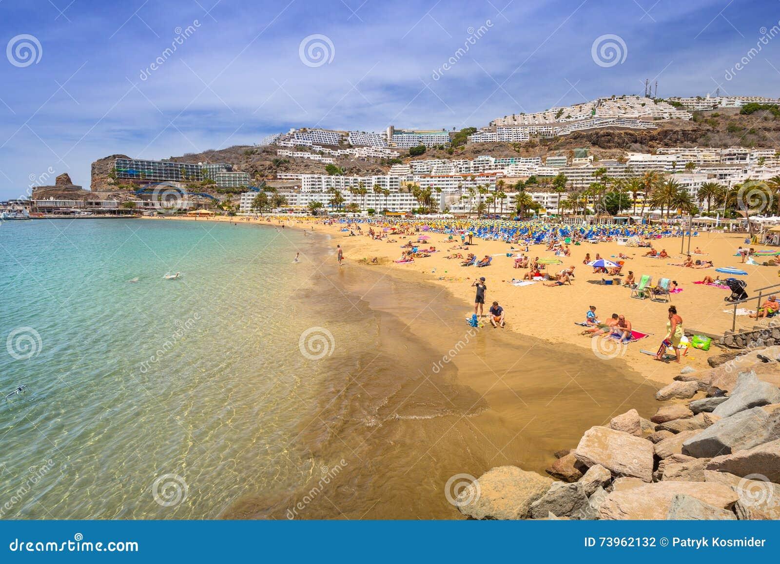 Praia de Porto Rico em Gran Canaria