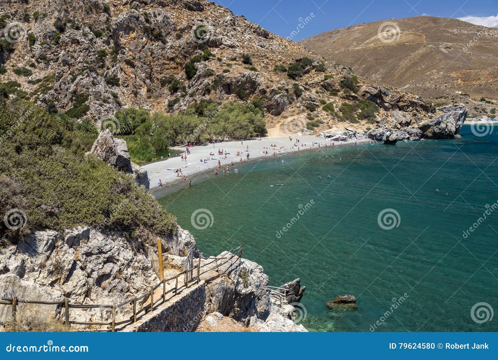 Praia de Preveli, Crete