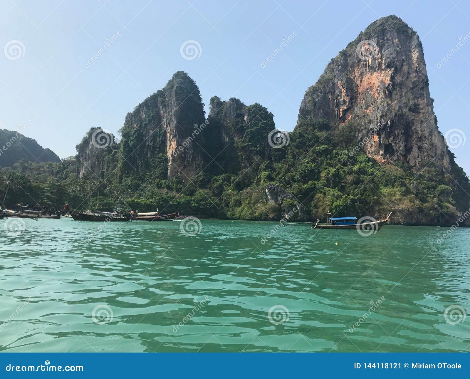 Praia de Railay em Krabi Tailândia
