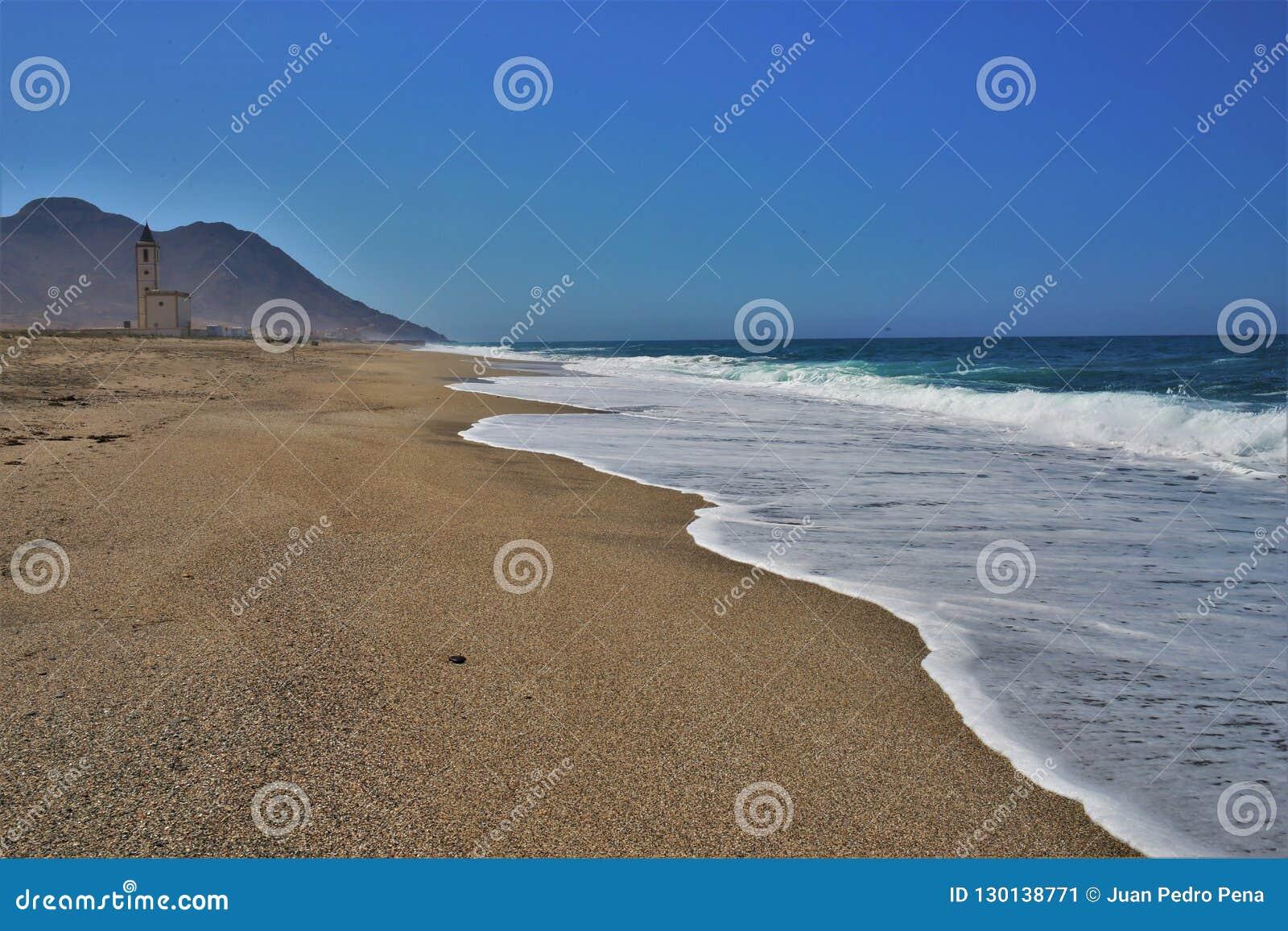 Praia do cabo de gata Nijar Almeria Andalusia Spain dos Salinas dos las de Almadraba de Monteleva o